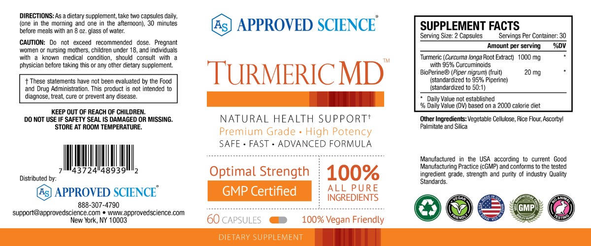 Turmeric MD Supplement Facts